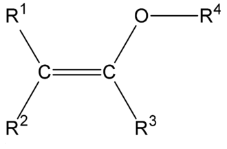 Enol ether - The structure of a typical enol ether group.