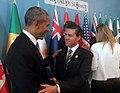 Enrique Peña Nieto greets Barack Obama at the 2015 G-20 Antalya summit (3).jpg