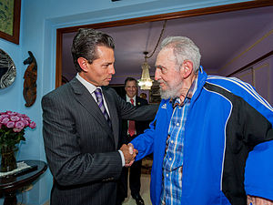 Foreign relations of Cuba - Mexican President Enrique Peña Nieto with former Cuban President Fidel Castro in January 2014
