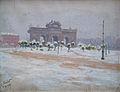 Enrique Simonet - Puerta de Alcalá nevada - 1911.jpg