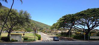Henry J. Kaiser High School (Hawaii) - Entrance to Henry J. Kaiser High School