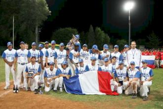 France national baseball team - Image: Equipe de France de baseball Espoirs 2006
