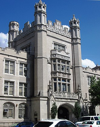 Erasmus Hall High School - The main tower