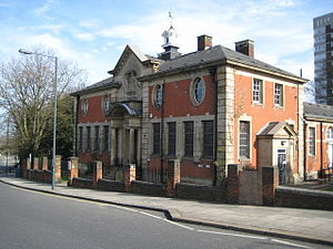 Erith - A Grade II listed building in Walnut Tree Road by William Egerton, opened 7 April 1906