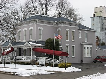 English: Front of the Eskew-Eaton Funeral Home...
