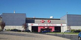Fuente de la Mora (Madrid Metro) - Image: Estación de Fuente de la Mora (Madrid) 01