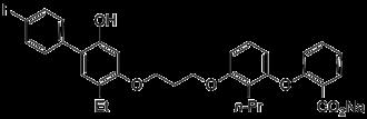 Etalocib - Image: Etalocib structure