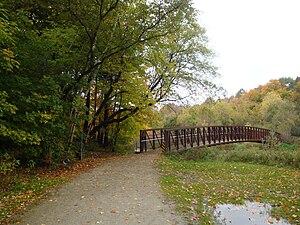 Centennial Park (Toronto) - Etobicoke Creek Trail bridge at Centennial Park