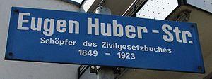 Eugen Huber - Eugen Huber-Strasse in Zurich-Altstetten