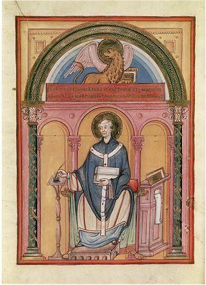 Sainte-Chapelle Gospels - Luke the Evangelist, Folio 52 verso