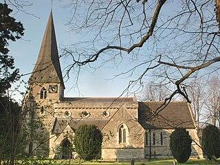 Evenley farm village in the United Kingdom