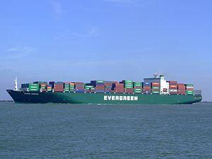 Ever Unific p3, leaving Port of Rotterdam, Holland 08-Apr-2007.jpg
