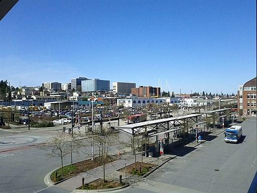 Everett, WA skyline from Everett Station