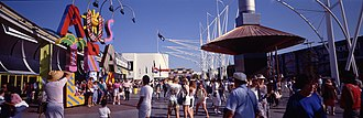 Caboolture, Queensland - The Australia sign by Ken Done at Expo 88