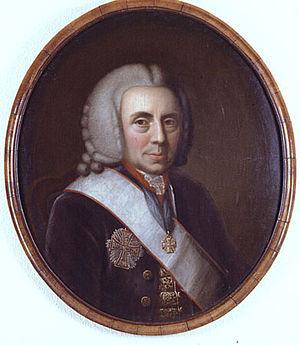 Christian August von Eyben - Contemporary portrait of Christian August von Eyben