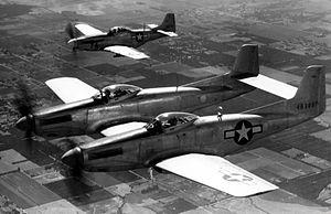 North American F-82 Twin Mustang - F-82 and P-51 in formation