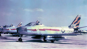 RAF Bentwaters - North American F-86A-5-NA Sabre, AF Serial No. 48-0276 of the 116th Fighter-Interceptor Squadron