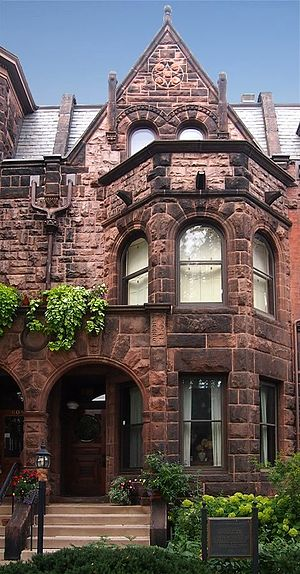 "William H. Willcox - One of the New York-style Richardsonian Romanesque rowhouses called ""Summit Terrace"", designed by Johnston and Willcox in Saint Paul, Minnesota, noted as the F. Scott Fitzgerald House"