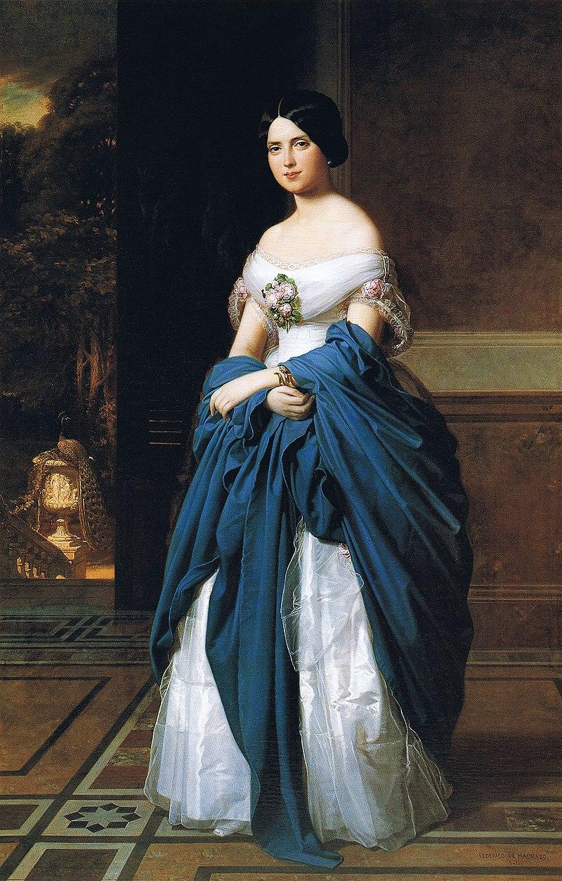 F. de Madrazo - 1847, Leocadia Zamora y Quesada (Colección particular, Madrid, 195 x 126 cm).jpg