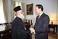 FM Droutsas meets with His Beatitude Theodoros II, Patriarch of Alexandria..jpg