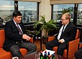 FM Urmas Paet met with Mikhail Margelov, the Chairman of the Foreign Affairs Committee of the Federation Council of Russia (8th November 2012) (8166673189).jpg