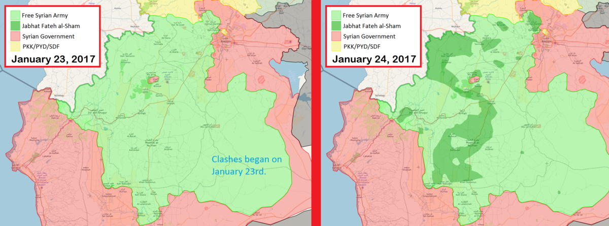 Isil >> Idlib Governorate clashes (January–March 2017) - Wikipedia