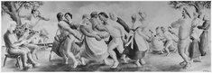 FWA-PBA-Paintings and Sculptures for Public Buildings-painting depicting colonial entertainment with families dancing... - NARA - 195791.tif
