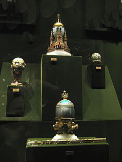 Faberge eggs in Kremlin Armoury 01 by shakko.jpg
