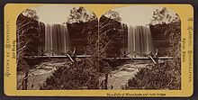 Falls of Minne-ha-ha and rustic bridge Circa 1865.jpg