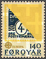Faroe stamp 037 europe (provisional stamp 1919, diagonally cut).jpg
