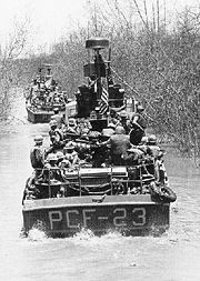 Fast Patrol Crafts operating up a river 2