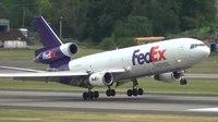 File:FedEx MD-10-30 (DC-10) (N304FE) Landing Portland Airport (PDX).ogv