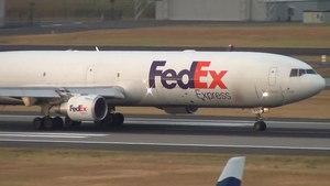 File:FedEx MD-11 (N643FE) FDX3604 Takeoff Portland Airport (PDX).ogv