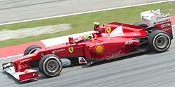 Fernando Alonso a bordo do F2012 (2012)