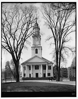 First Church of Christ, Congregational (Springfield, Massachusetts) - View of the church around 1908