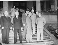 First visit of Soviet leader Josef Stalin with President Harry S. Truman during the Potsdam Conference in Potsdam... - NARA - 198877.tif