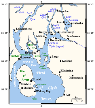 Firth of Clyde - Map of the Firth of Clyde.