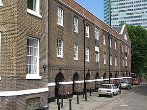 Deptford - Surviving riverside building of the former Royal Victoria Victualling Yard.