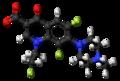 Fleroxacin zwitterion ball.png