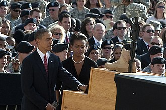 2009 Fort Hood shooting - U.S. President Barack Obama at the memorial service for the victims of the shooting rampage