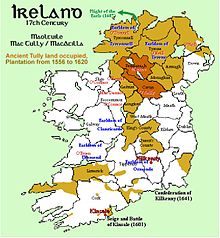Map Of Ireland 1600.Plantations Of Ireland Wikipedia