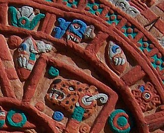 Tecpatl - Representations of the tecpatl in the sun stone