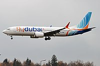 FlyDubai, A6-FMB, Boeing 737-8 MAX (30728990597).jpg