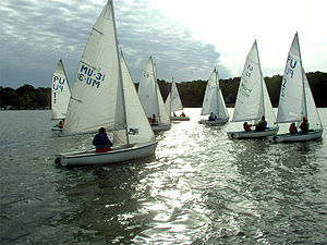 Lake Lemon - Flying Juniors compete in a collegiate regatta on Lake Lemon