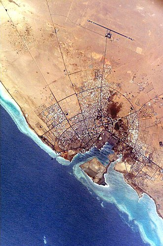 Yanbu - NASA photograph of Yanbu' al Bahr