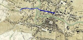Marshal Ferdinand Foch Street in Bydgoszcz - Focha street on an 1876 map