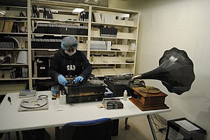 Preservation (library and archival science) - Preservation and recording of magnetic tapes at Fonoteca Nacional (National Sound Archive of Mexico).