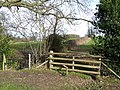 Footpath and Stile near Corfton, Shropshire - geograph.org.uk - 676762.jpg