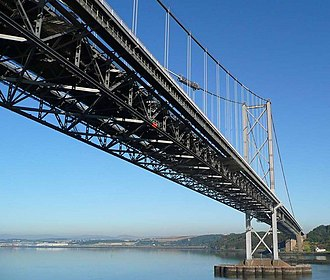 Forth Road Bridge - View from North Queensferry