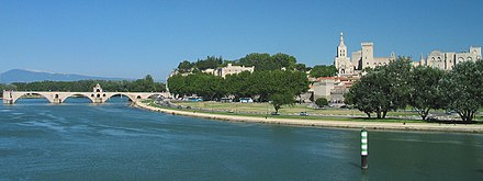 The Rhone at Avignon France Avignon Total 1.jpg